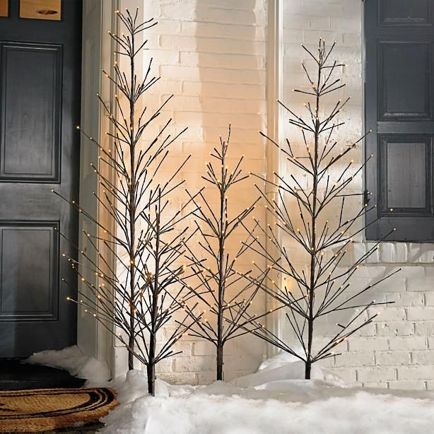 Battery Operated Outdoor Christmas Trees: Battery Operated Outdoor Twig Tree