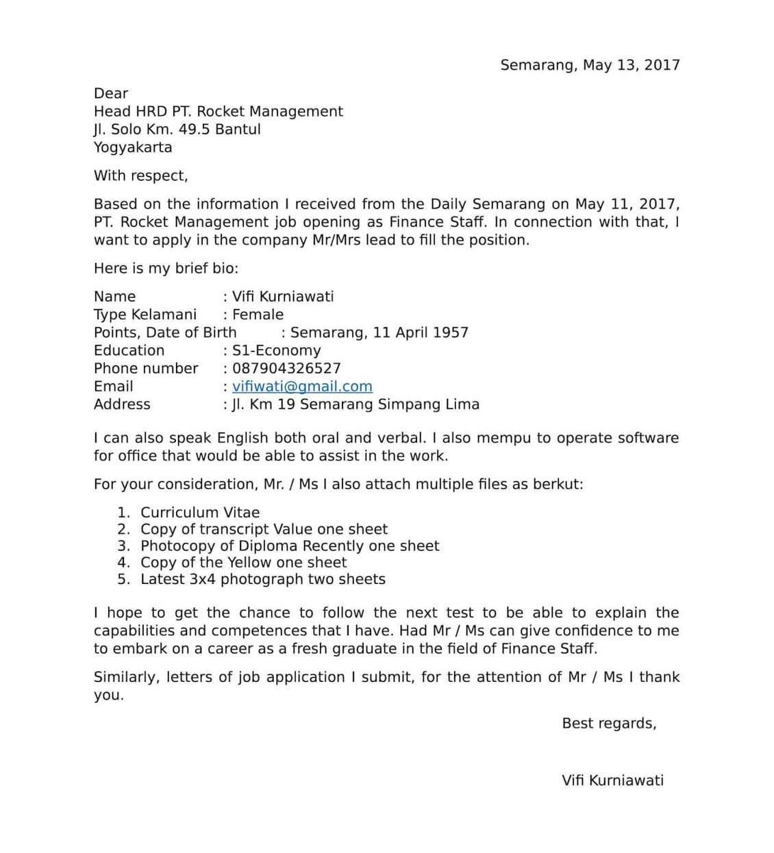 Contoh Surat Lamaran Kerja Apoteker Bahasa Inggris Surat