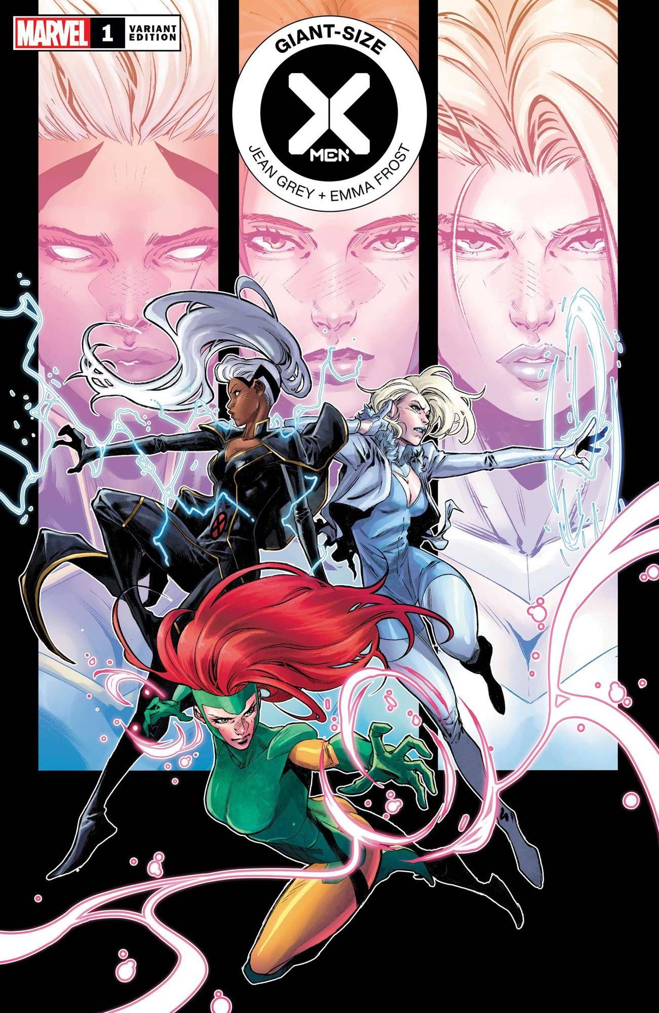 Giant Size X Men Jean Grey Emma Frost 1 Dx In 2020 Emma Frost Marvel Marvel Character Design