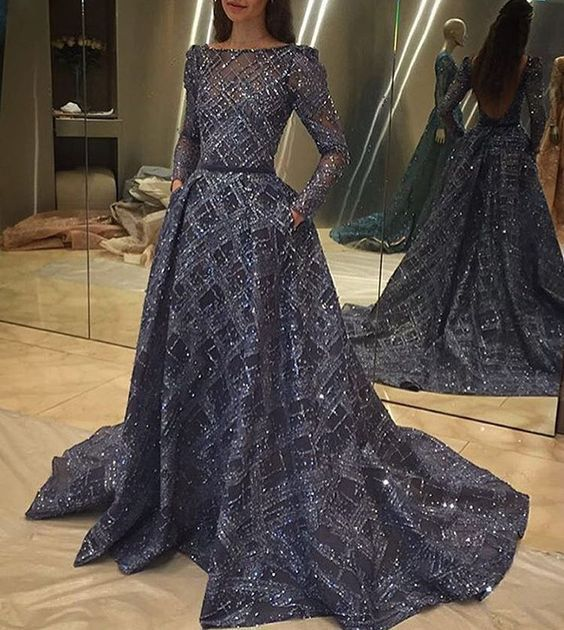 da7d141cf2 This  purple    blue colored  hautecouture long sleeve evening gown is  pricey for some. But if you  love couture  ballgowns    eveninggowns for  your formal ...