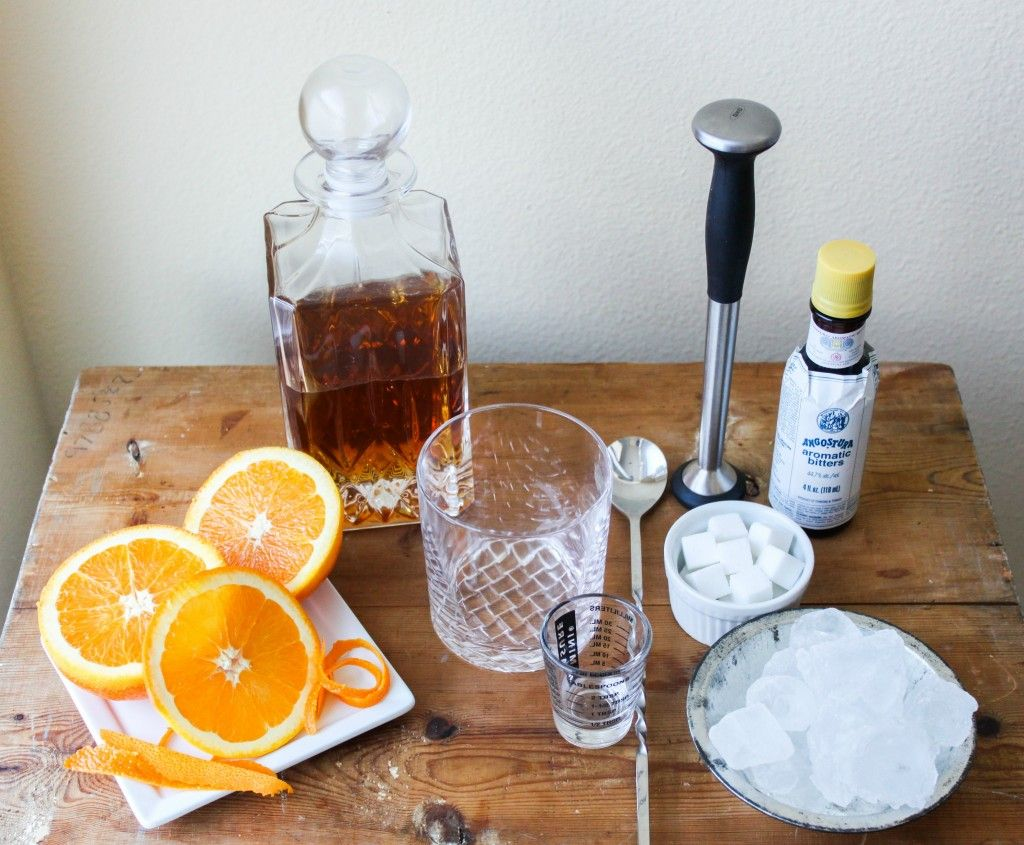 old fashioned drink list of ingredients. My new drink of choice :)
