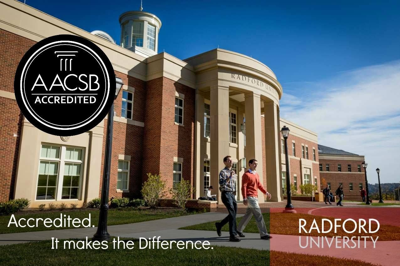 Radford MBAProgram is AACSB accredited – only of business
