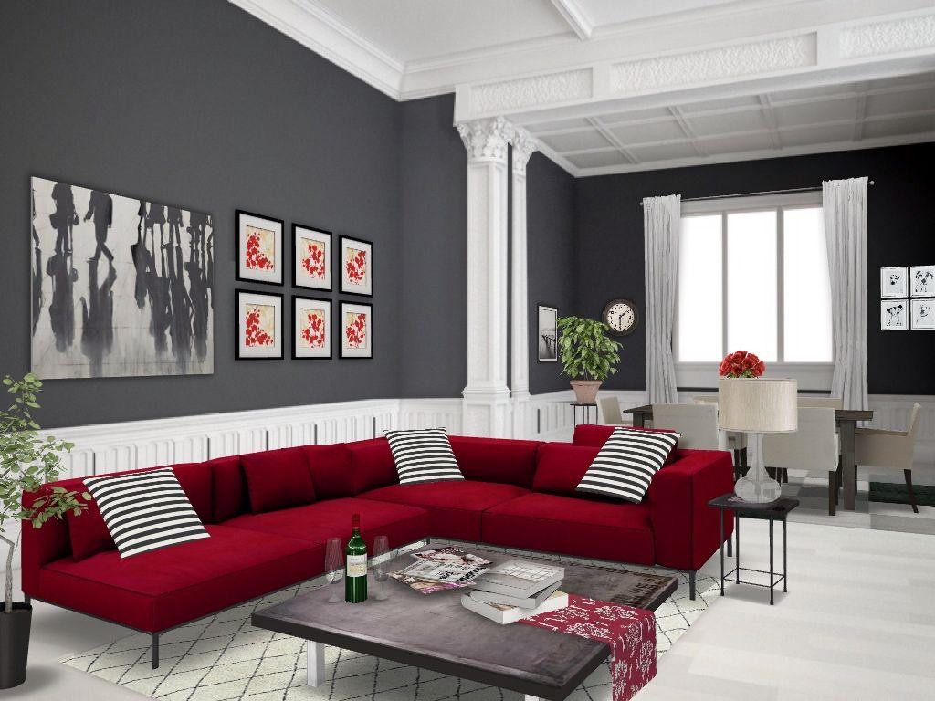 Red #autodesk #homestyler #simplifiinteriors Grey/red ...