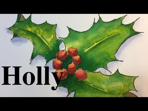 how to paint a winter tree greeting card in watercolor pine holiday christmas tutorial youtube