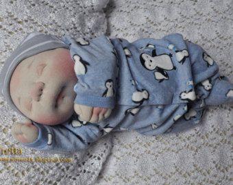 EN espera OOAK suave esculpidas recién nacido niña de Julie