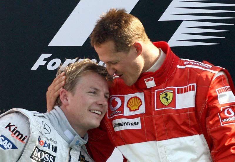Kimi Raikkonen Michael Schumacher Michael Schumacher Race