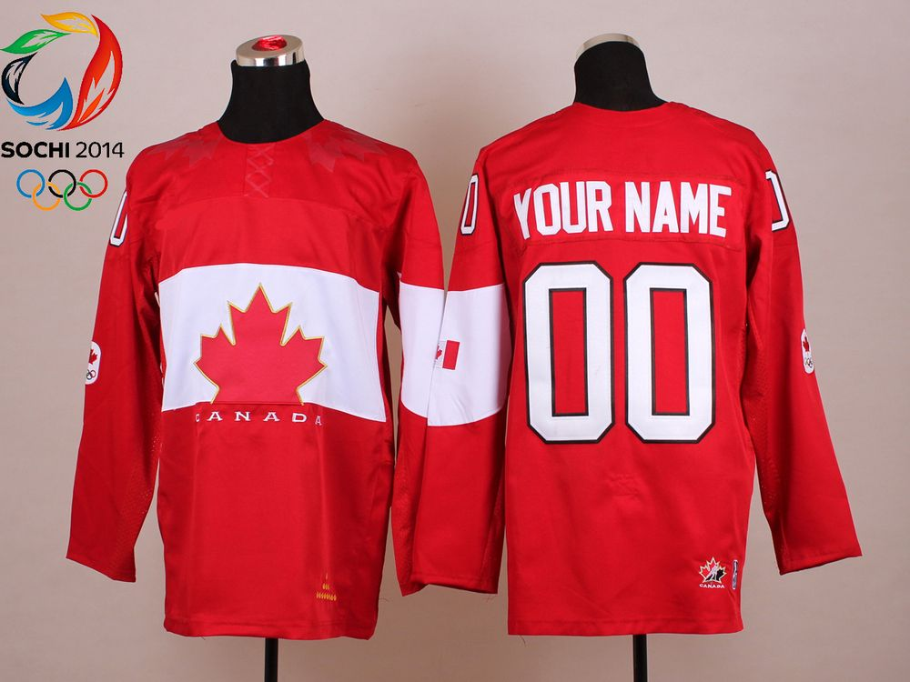 10b733d90 2014 Sochi Olympic Customized Canada Home Any Name Any Number Red Ice Hockey  Jerseys Emboridered Logo New with tag $59.99