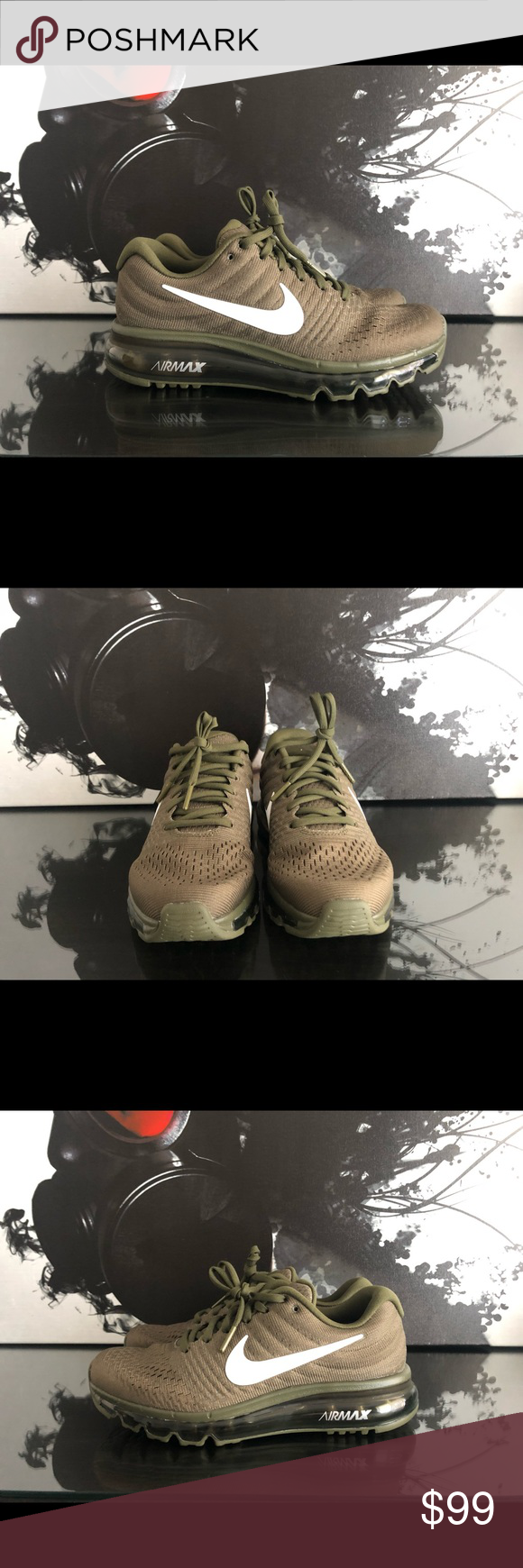 online retailer 2d9f5 65697 WOMENS NIKE iD AIR MAX 2017 OLIVE GREEN | NEW 🔘 Shoes are ...