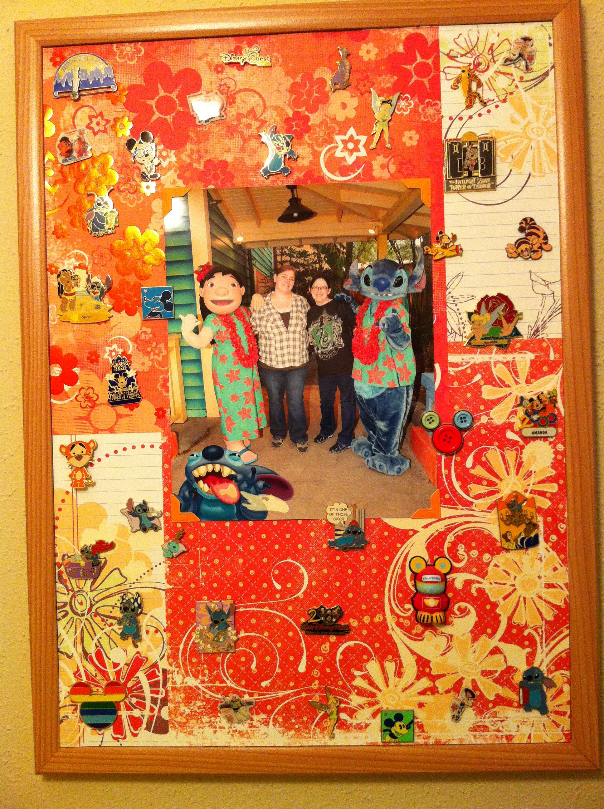 Scrapbook paper display - Fun Way To Display Disney Collectible Trading Pins Cork Board Scrapbook Paper And Your