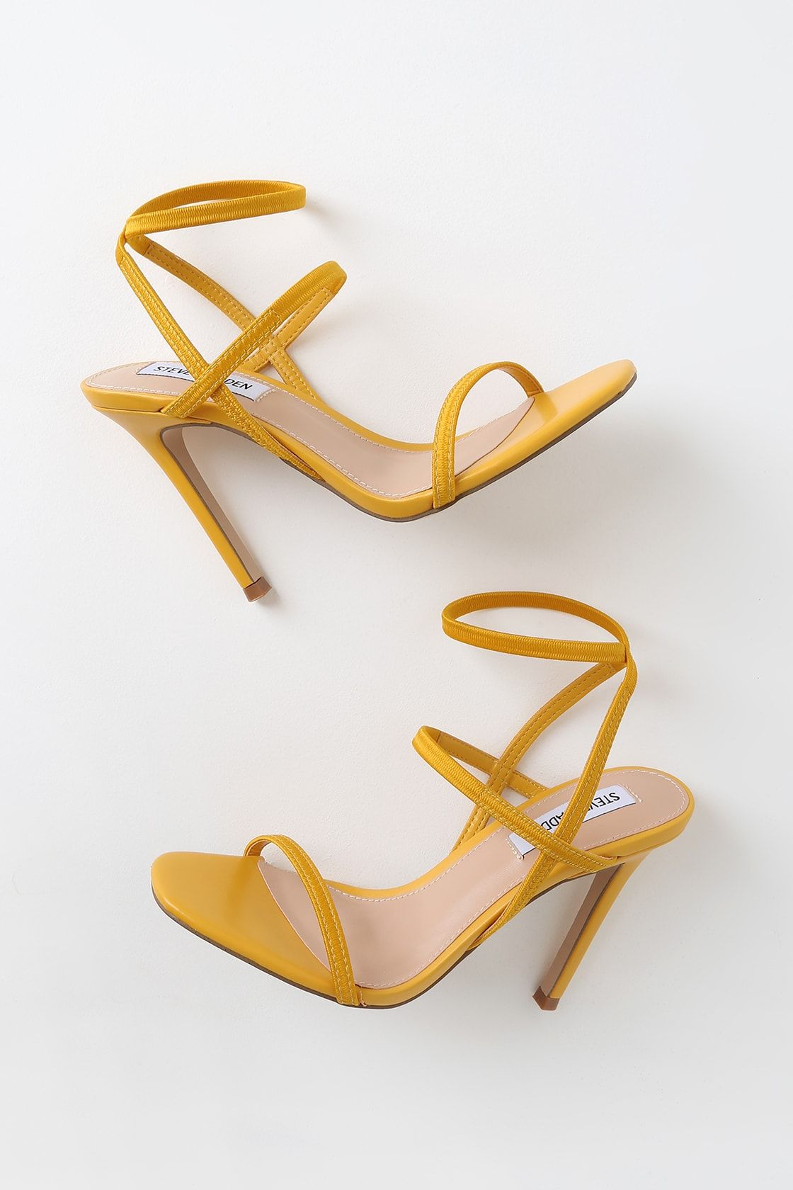 Ankle Strap High Heels Women Sandals Thick High Heel Party Wedding Summer Lady Shoes,Yellow,8.5