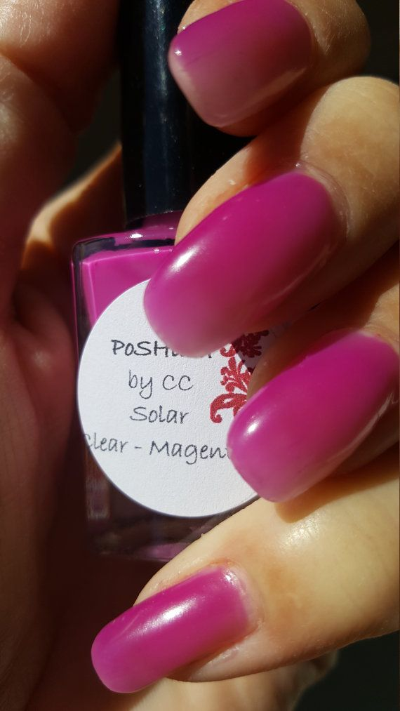 Unique Solar Color Changing Clear Magenta Nail Polish By Poshlish