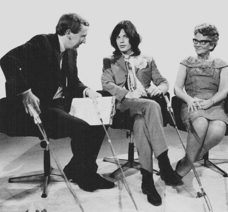 1st week December 1968 Jagger, Whitehouse, Diana Dors guest on David Frost TV show.