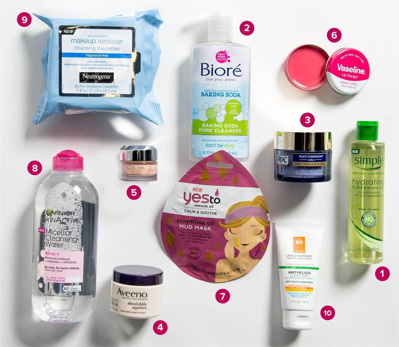 Drugstore best skin care products fotos