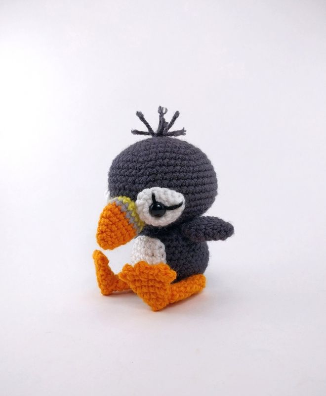 Paavo the Puffin amigurumi pattern by Theresas Crochet Shop