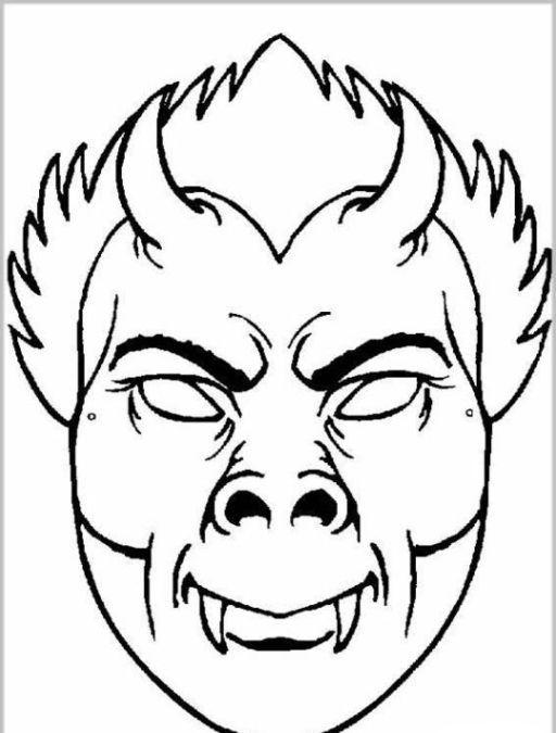 ausmalbilder malvorlagen masken  my blog  fall coloring
