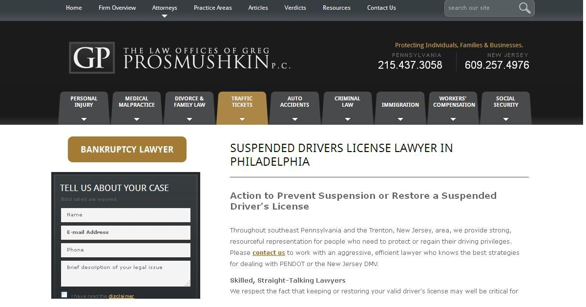 Action to prevent suspension or restore a suspended driver