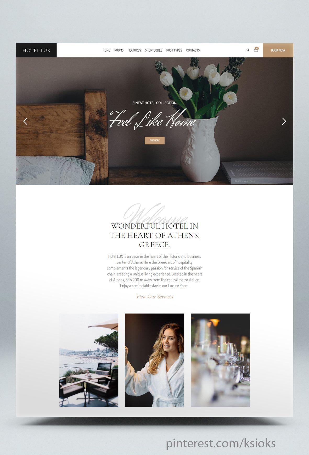 Resort Hotel Wordpress Theme Hotel Website Design Hotel Website Hotel
