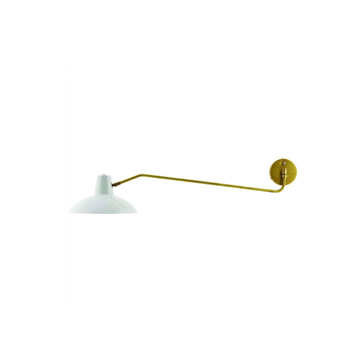 Applique en métal blanc et cuivre jaune House Doctor Frenchrosa