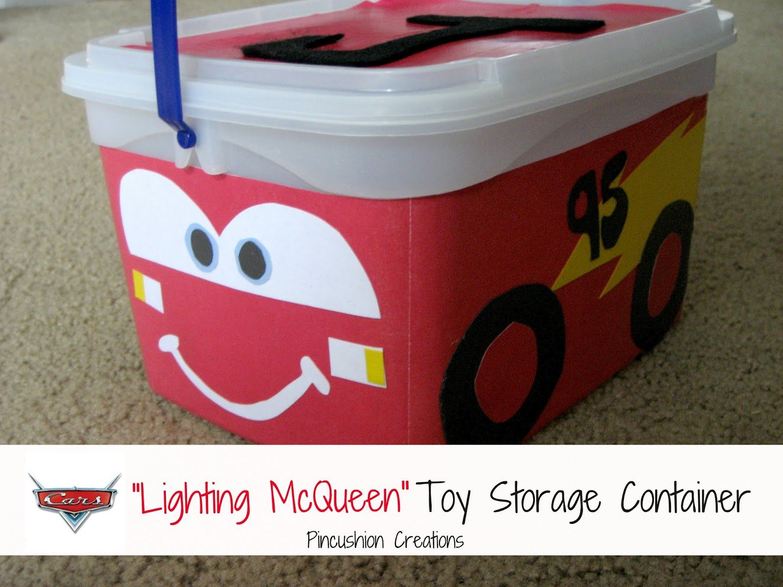 Diy From Ice Cream Container Cars Lightning Mcqueen Toy Storage