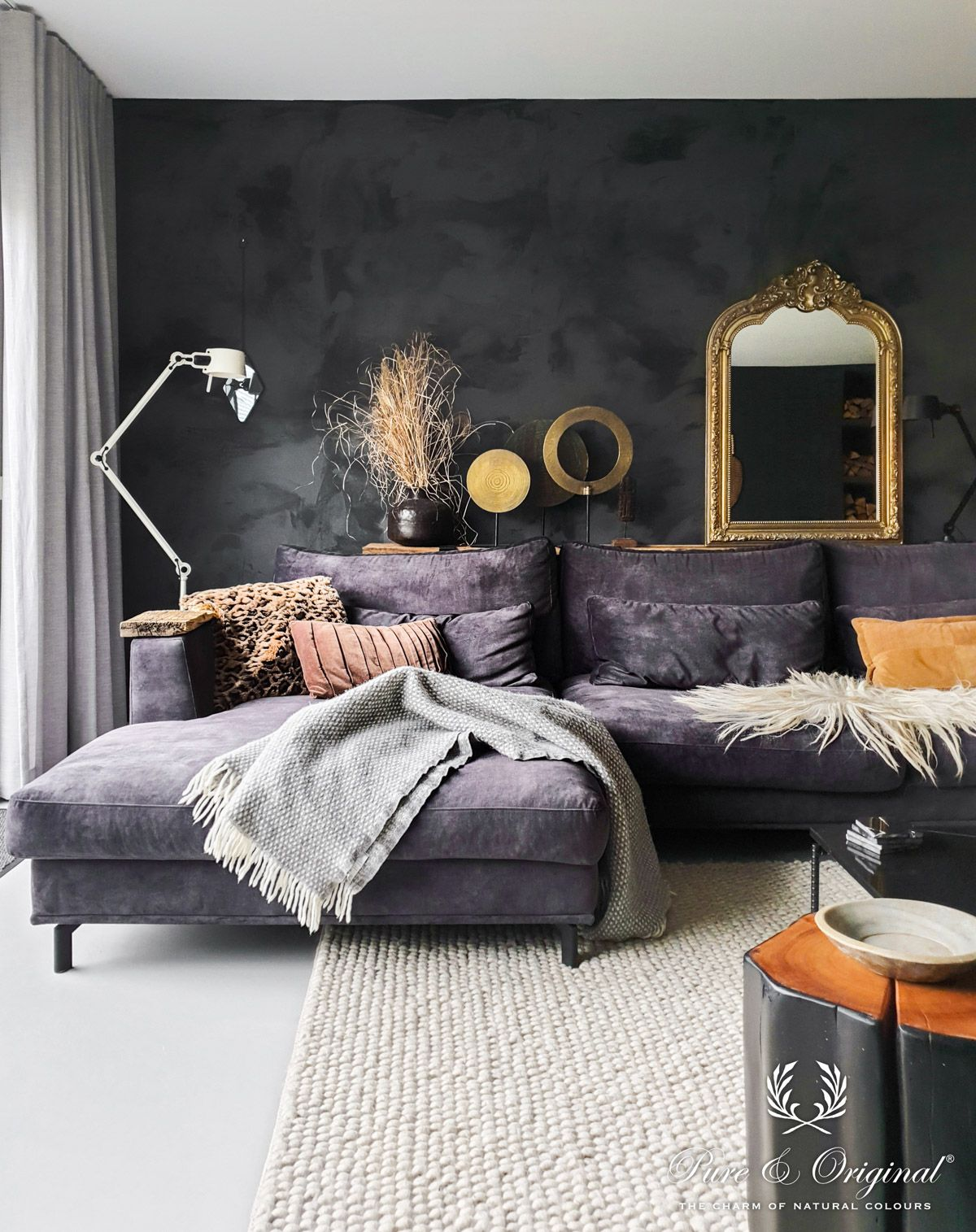 Discover The Old World Beauty Of Lime Paints And 100 Mineral Paints For Your Home Velvet Couch Living Room White Floors Living Room Grey Walls Living Room