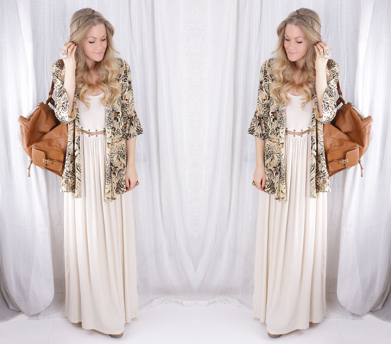 Maxi Dress, Kimono, Jeffrey Campbell Litas, Yves Saint Laurent Ysl ...