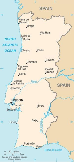 U S Relations With Portugal Portugal Map Spain And Portugal