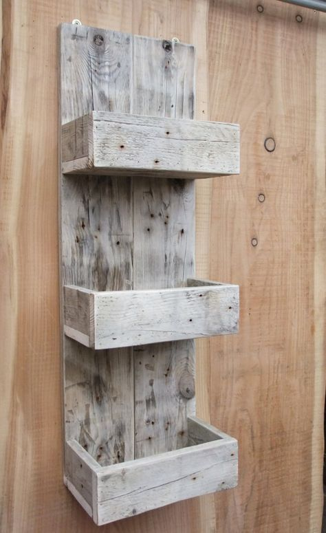 Tall Rustic Kitchen / Bathroom Storage Shelves Made From Reclaimed Wood #rustickitchens