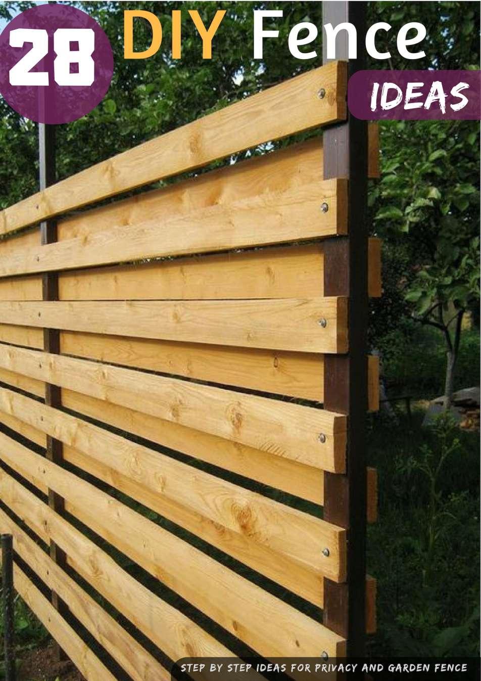 Unique Wooden Garden Fence Ideas And Diy Fence Ideas Garden And