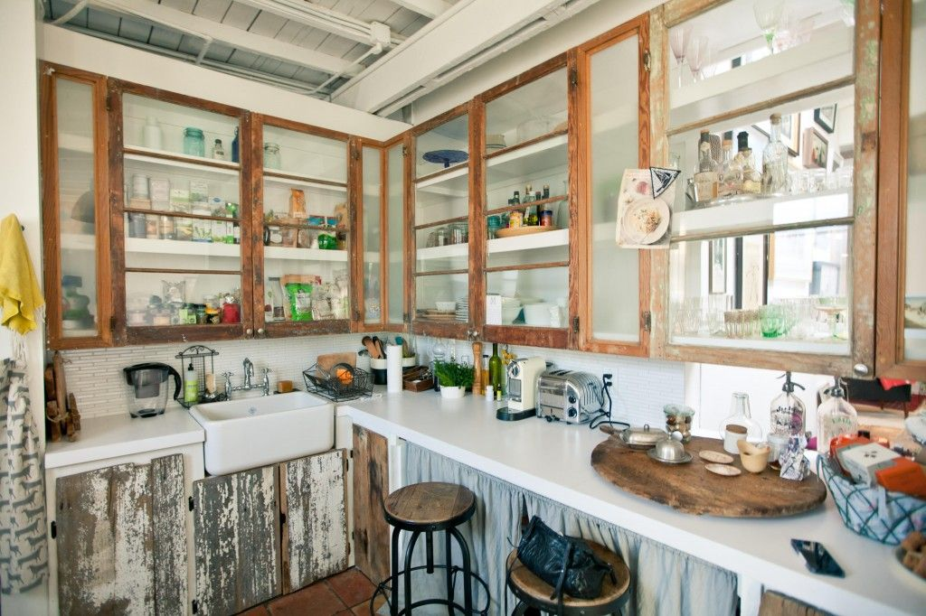 Upcycled Kitchen Of Love Reclaimed Wood Cabinets