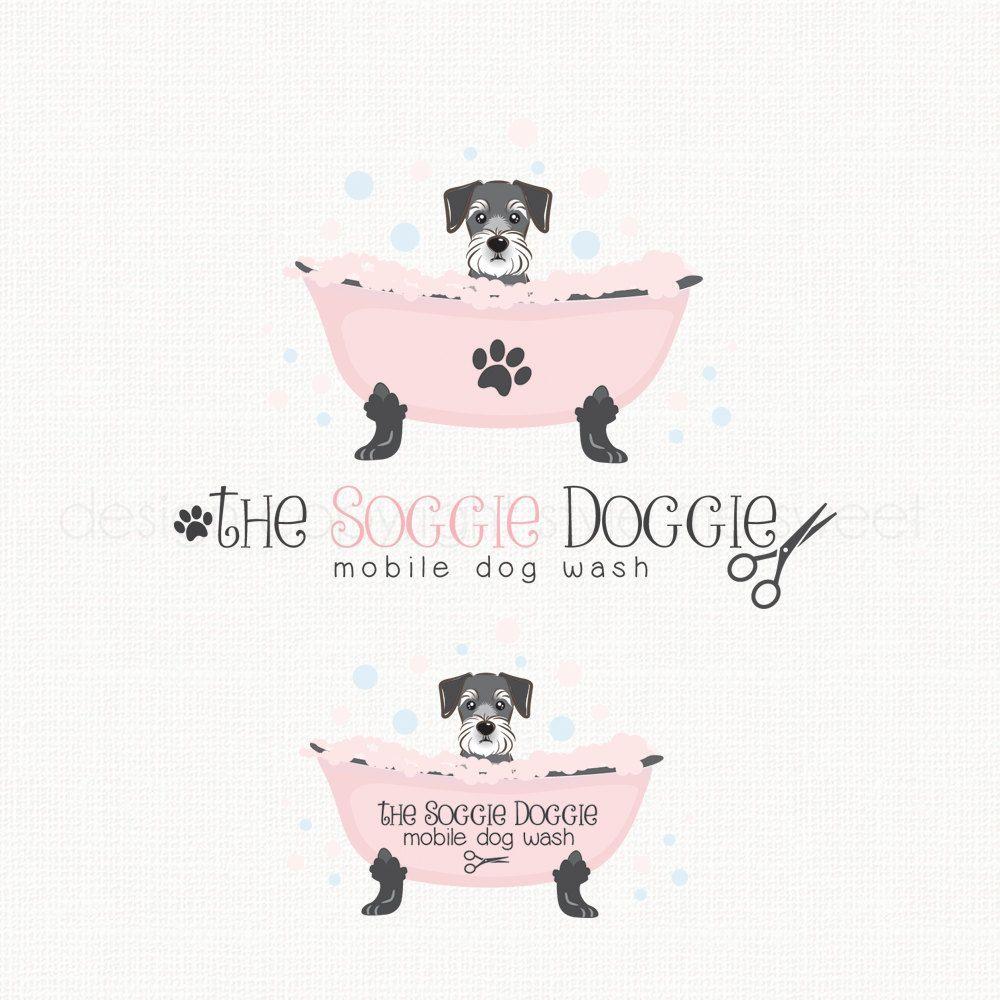 Dog Grooming Logo Mobile Dog Wash Logo Pet By Stylemesweetdesign Dog Grooming Dog Grooming Salons Dog Grooming Shop
