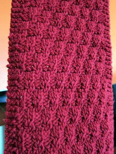 Red Redux Knitting Scarves Pinterest Knit Scarf Patterns