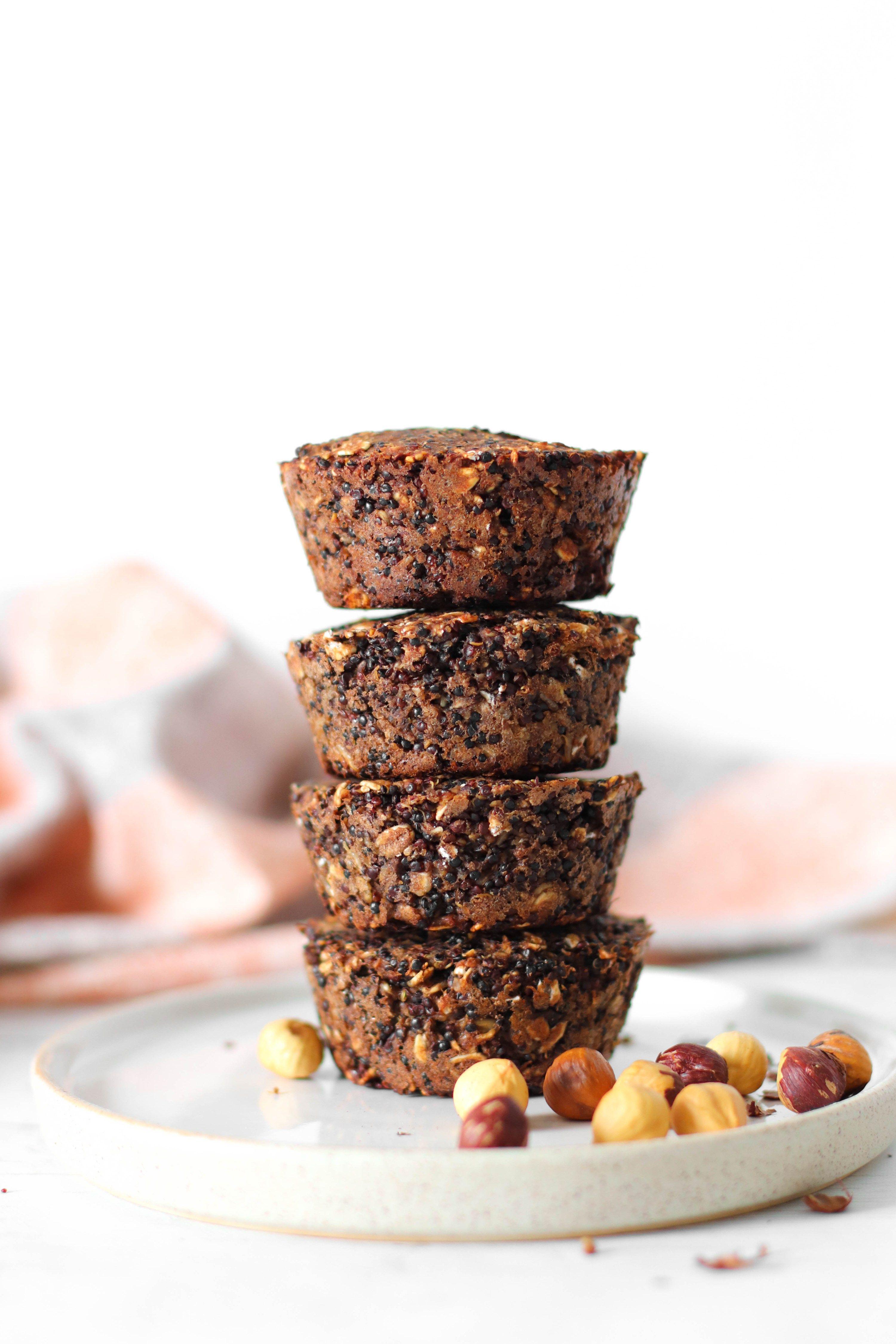 4ingredient protein quinoa cups Recipe Vegan snacks