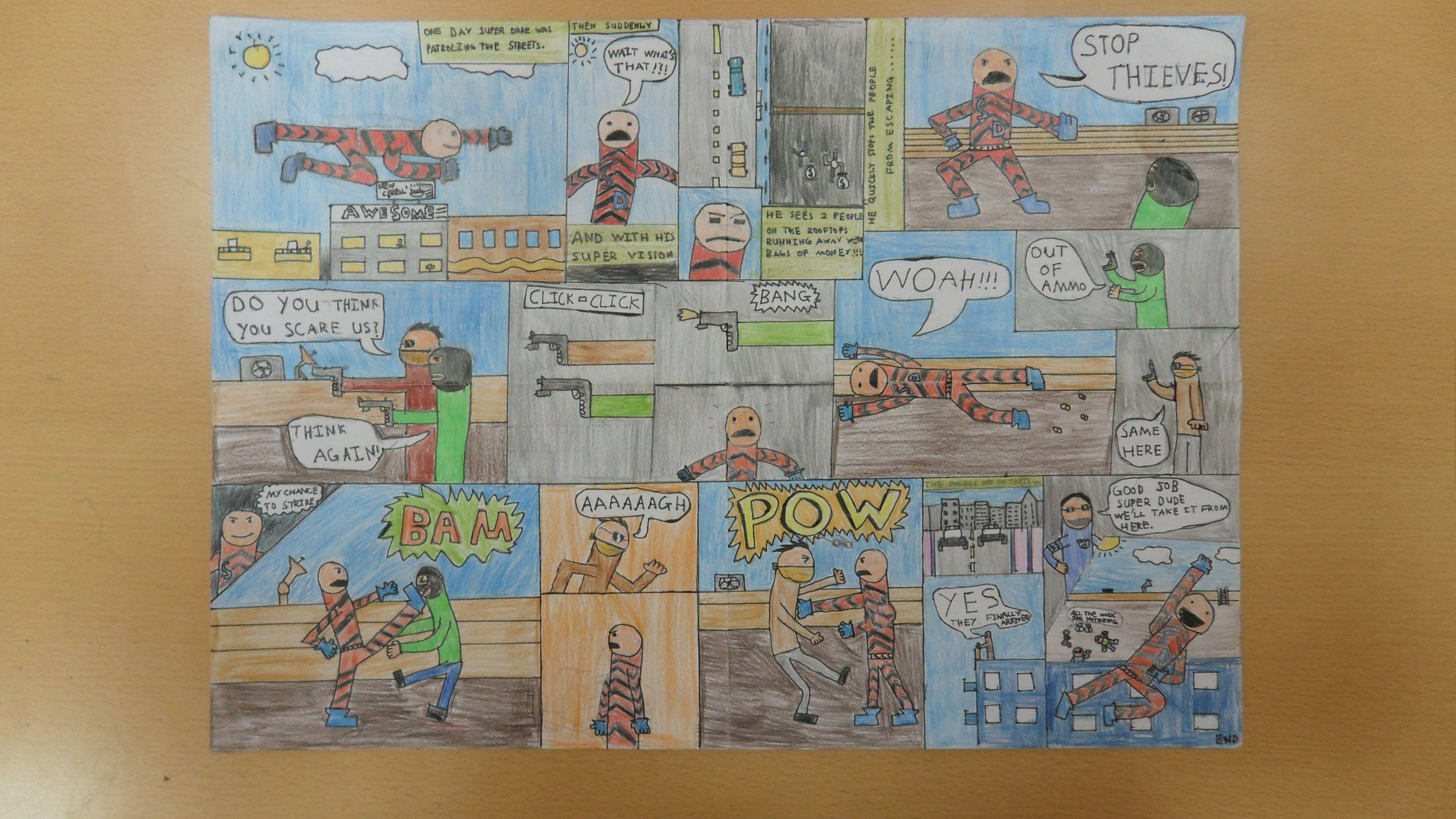 Graphic Novel Project- Year 8  | KS3 Art | Art, Novels, Projects