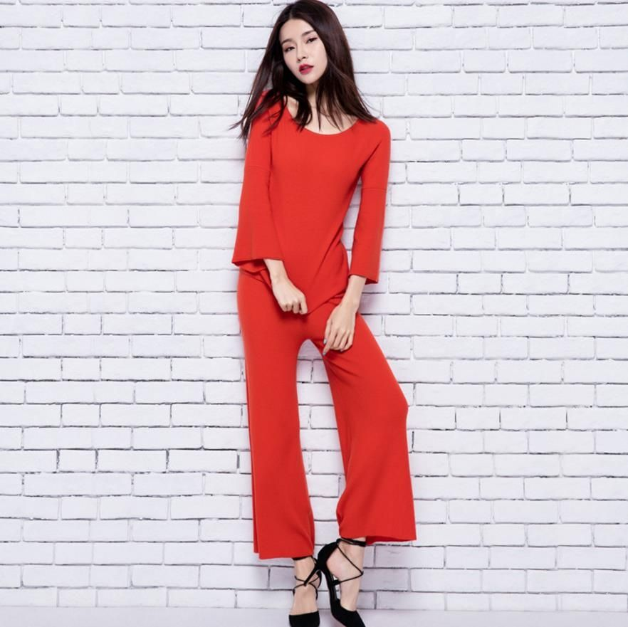 05cdaad568e New Arrival 2018 Womens O Neck Short Sleeves Beaded Sequined Blouse with  Printed Pants Fashion Two ...
