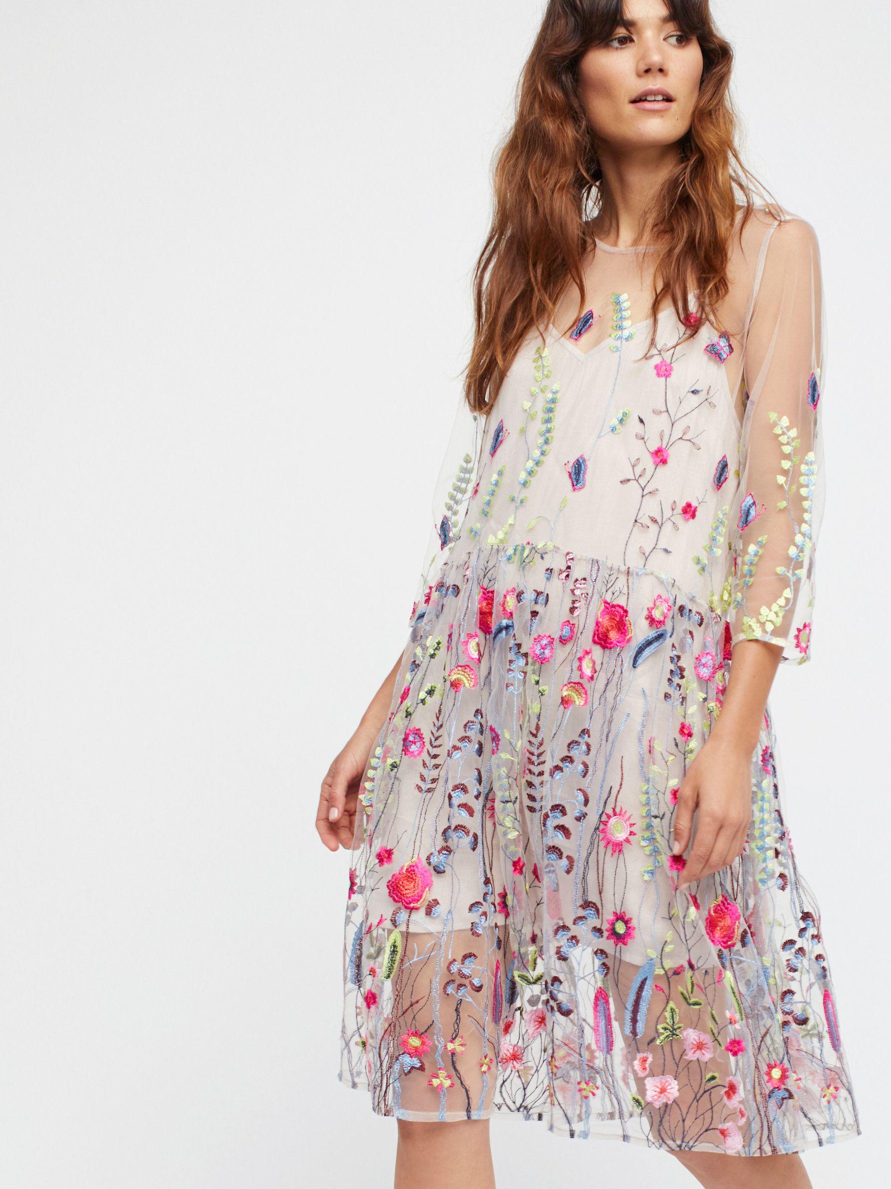 Sheer garden mini dress sheer mini dress featuring colorful garden
