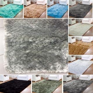 Safavieh Silken Ivory Shag Rug (8' x 10') - 14145517 - Overstock.com Shopping - Great Deals on Safavieh 7x9 - 10x14 Rugs