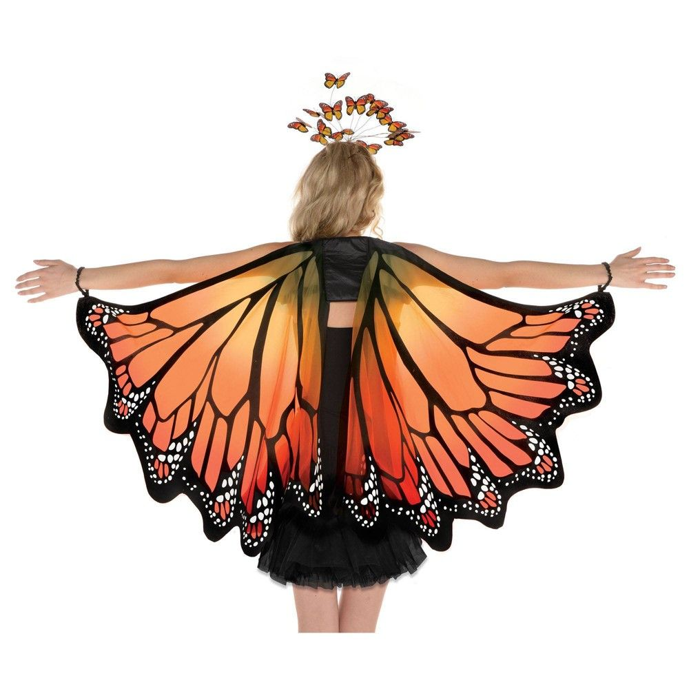 Halloween Monarch Wings Halloween Costume Accessory, Adult