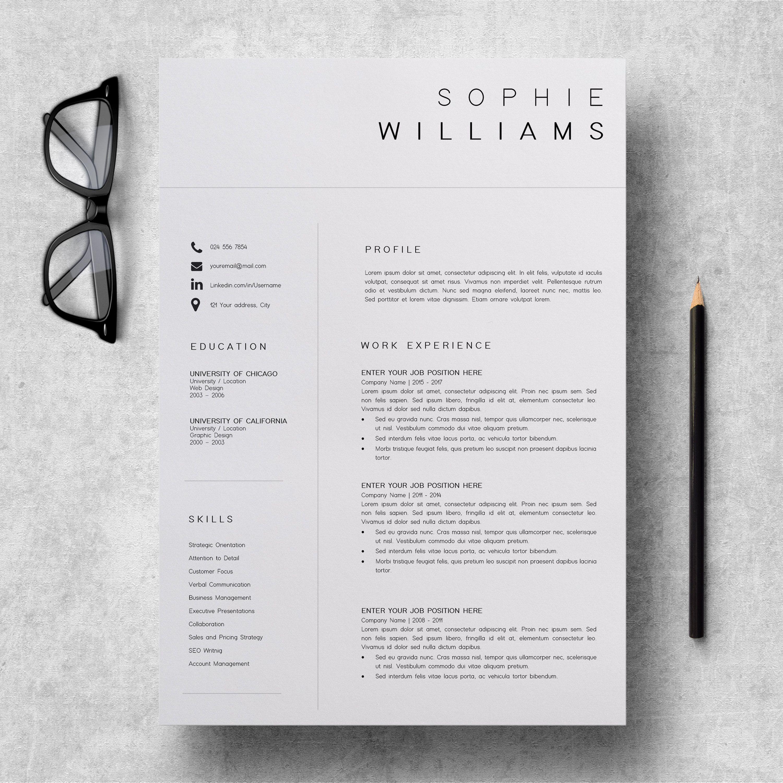 New Cv Template Resume Template Minimalist Professional Cv Design Resume Template Instant Download Word Executive Assistant Resume Vorlagen Lebenslauf Lebenslauf Design Lebenslauf