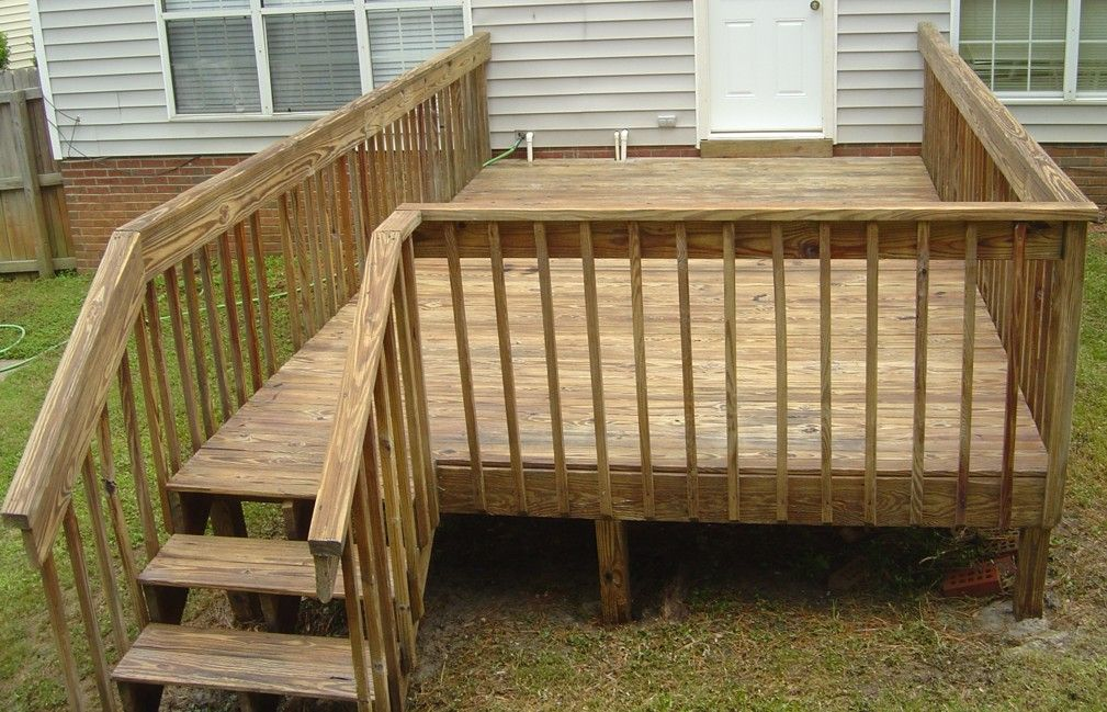 Featured captivating brown wood decks design for your for Simple fence plans
