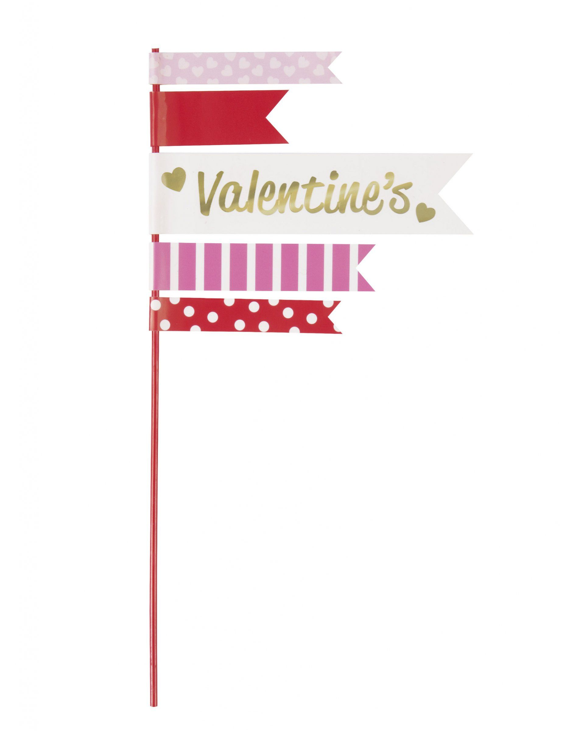 2 Fanions pour g¢teau Happy Valentine s 25 4 cm