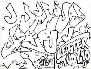 The letter J in graffiti style | Calligraphy/Graffiti Alphabet in