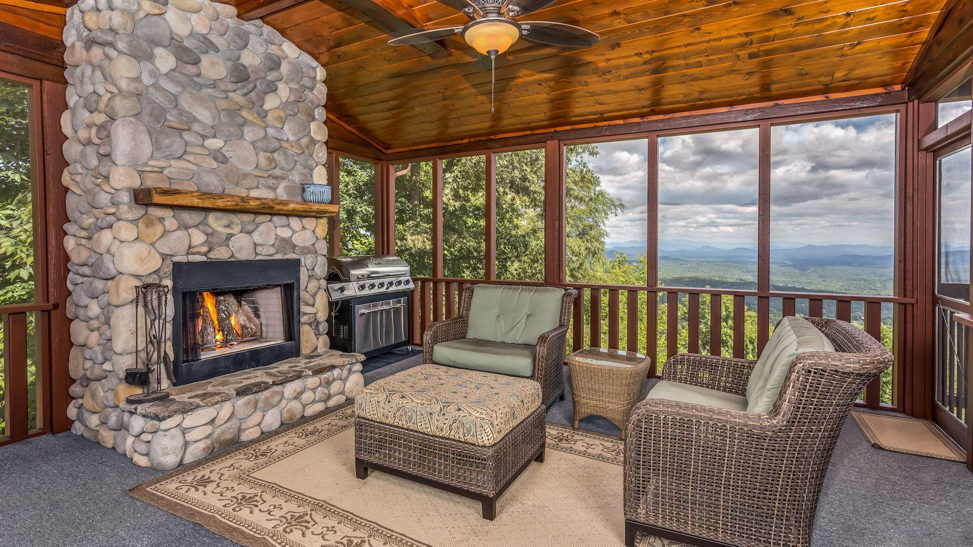 Legendary View Lodge Rental Cabin Blue Ridge GA
