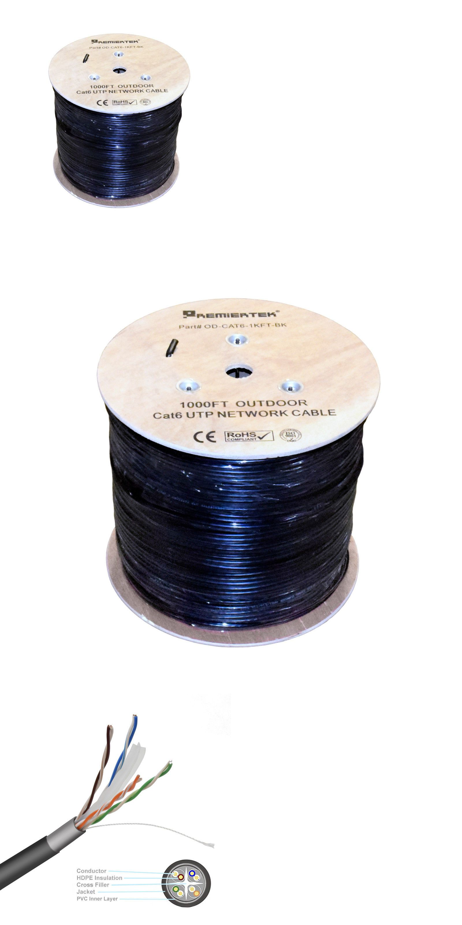 Ethernet Cables Rj 45 8p8c 64035 1000 Ft Cat6 Uv Cmx 23 Awg Waterproof Outdoor Direct Burial Solid Network Cable Buy It Now Ethernet Cable Networking Cables