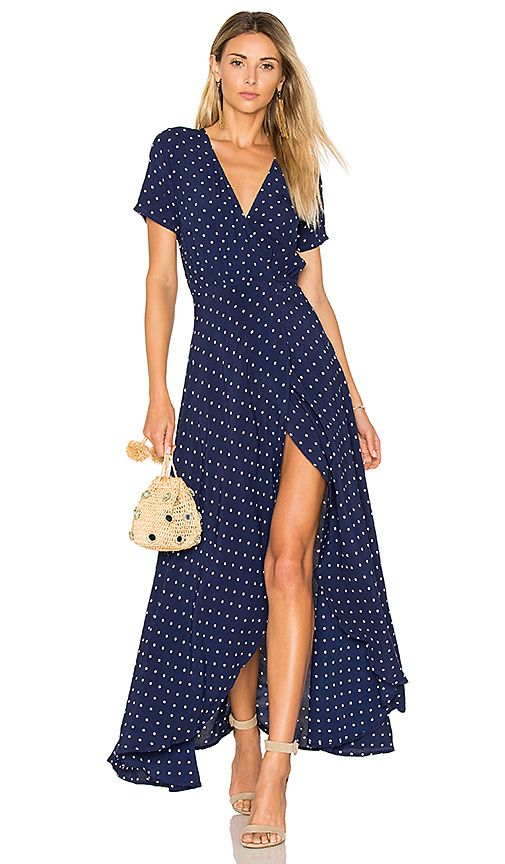 87c4c0101b3b Shop for AUGUSTE Lily Wrap Maxi Dress Classic Polka Dot in Navy Blue at  REVOLVE. Free 2-3 day shipping and returns, 30 day price match guarantee.