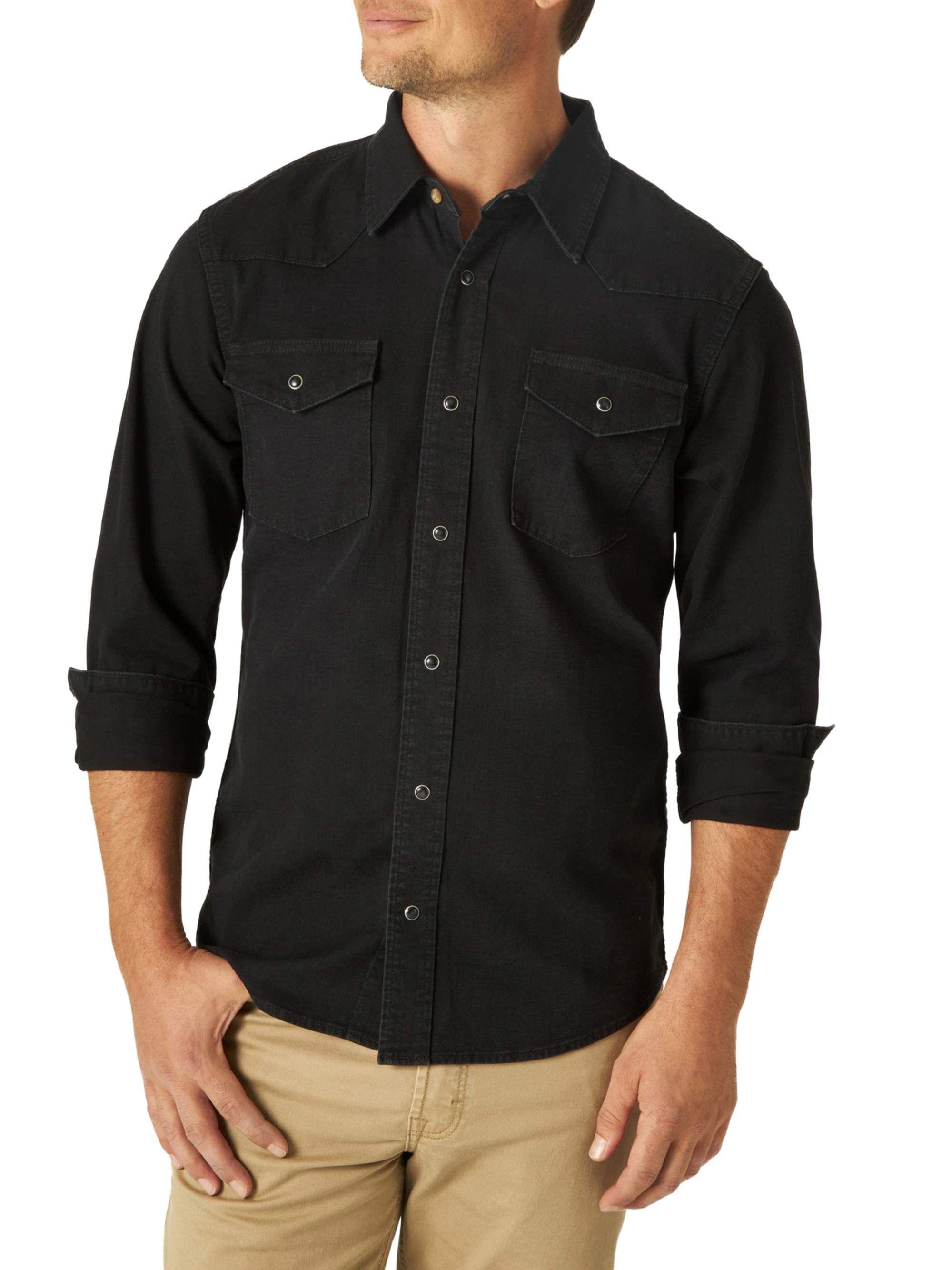 Wrangler Wrangler Men S Premium Slim Fit Denim Shirt Walmart Com In 2021 Fitted Denim Shirt Shirt Outfit Men Mens Outfits Dressy [ 2667 x 2000 Pixel ]