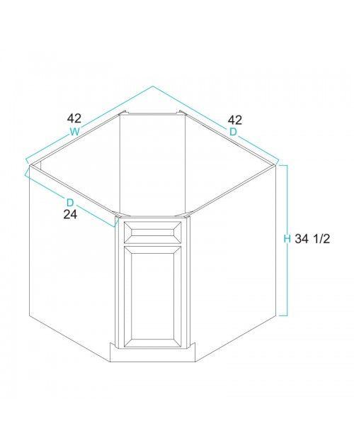 Diagonal Corner Sink Base Cabinet 42 Corner Sink Base Cabinets Cabinet