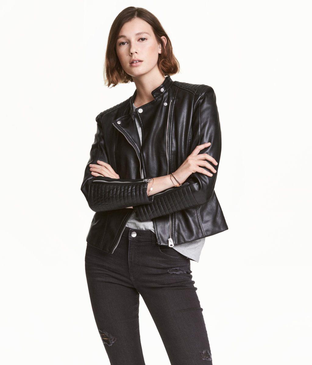 Los Angeles UK Verfügbarkeit elegantes Aussehen Bikerjacke | Schwarz | Damen | H&M DE | Daily Fashion ...