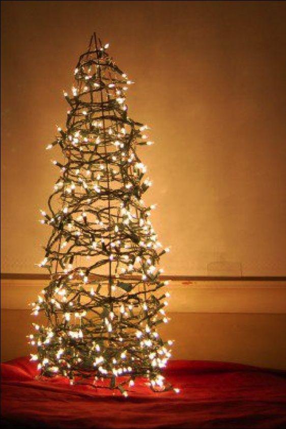 F53147f731d72afb6fa6ac29615cc4f2 Jpg 562 842 Pixels Tomato Cage Christmas Tree Diy Christmas Tree Christmas Decorations
