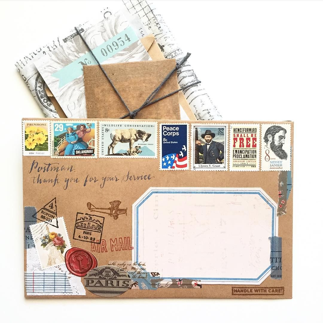 Pin by Louise Rourke on Mail Postage stamp art, Mail art