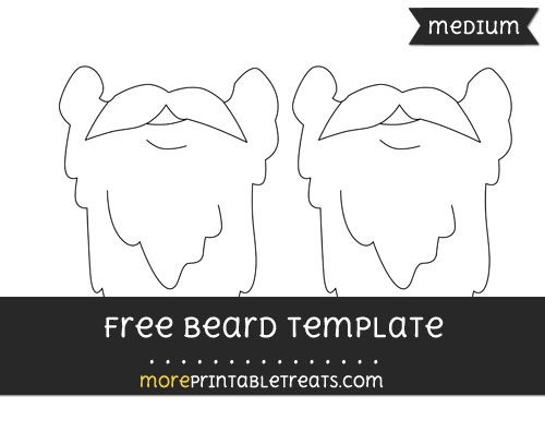 Free Beard Template - Medium | Shapes and Templates Printables ...